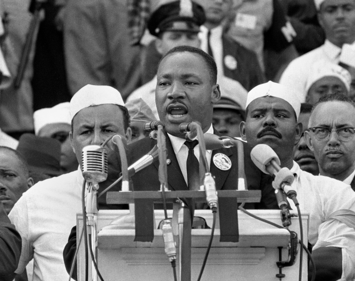 "Dr. King giving the ""I Have A Dream"" speech"