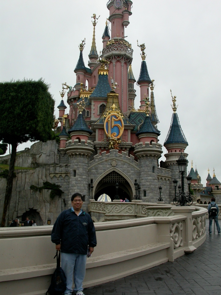 In front of Cinderella Castle at Disneyland Paris