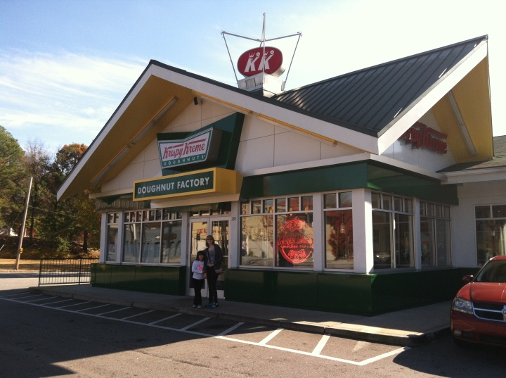 Visiting the very first Krispy Kreme in Atlanta, GA