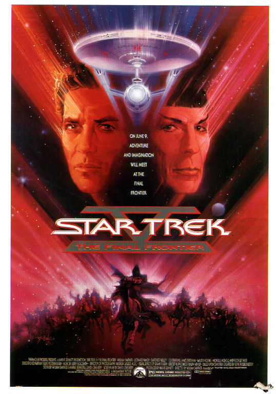 Original teaser poster for Star Trek V