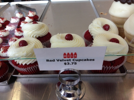Best red velvet cupcakes - ever!  At Milk in Los Angeles