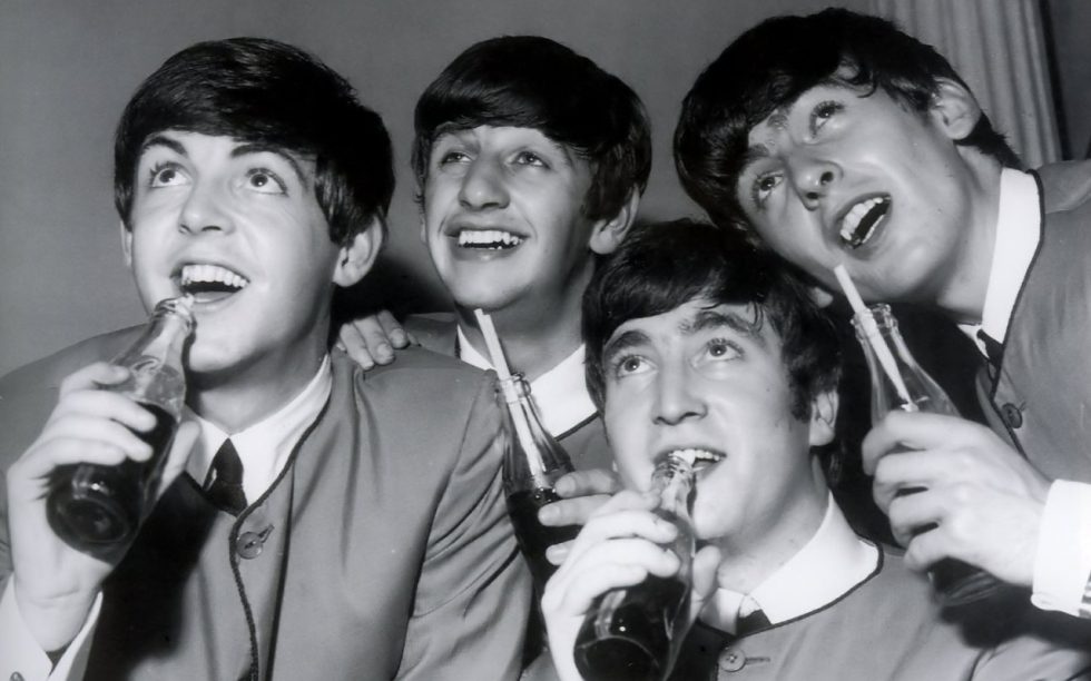 The Beatles in their youth