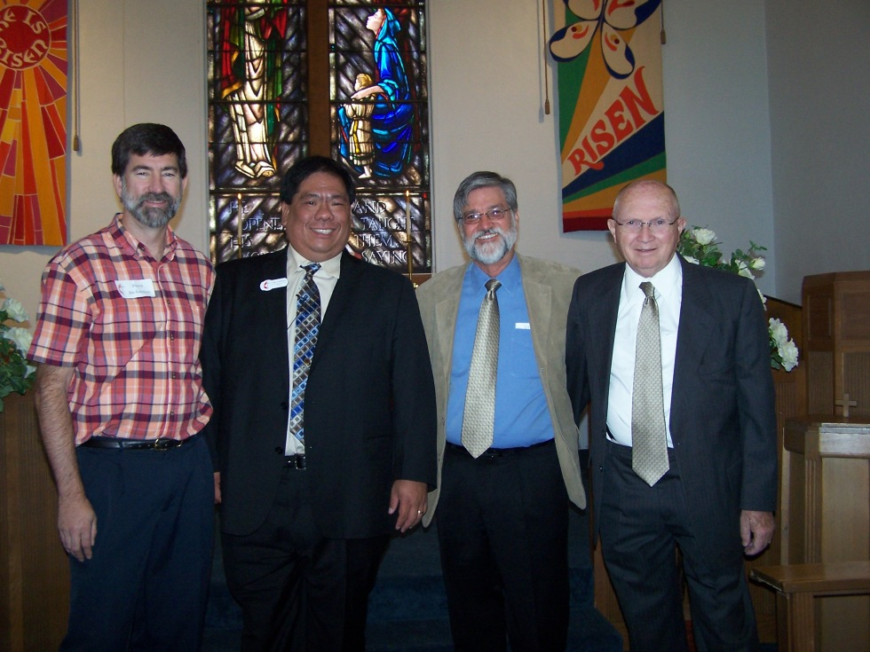 From L to R: Jim Garrison, me, Bob Collins, and Ron Greilich - all former pastors of First UMC