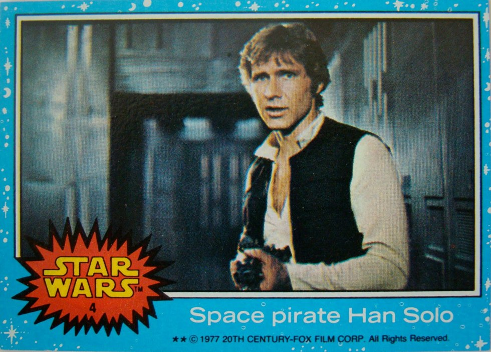 Star Wars trading cards from my youth