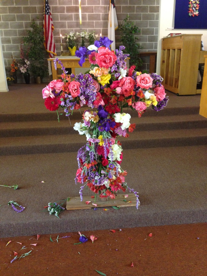 Flowering of the Cross at our church today