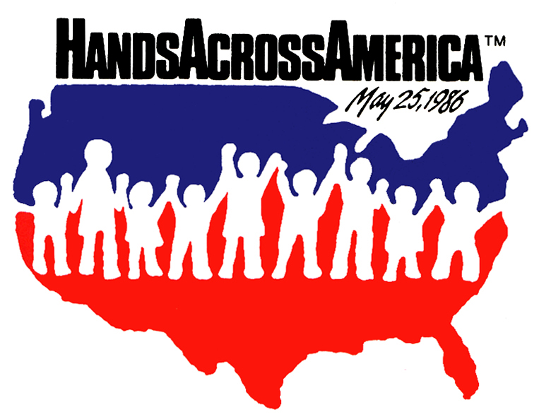 Hands Across America logo from 1986
