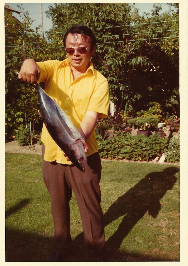 A pic of my dad with an especially nice catch. I don't even know when this was taken!