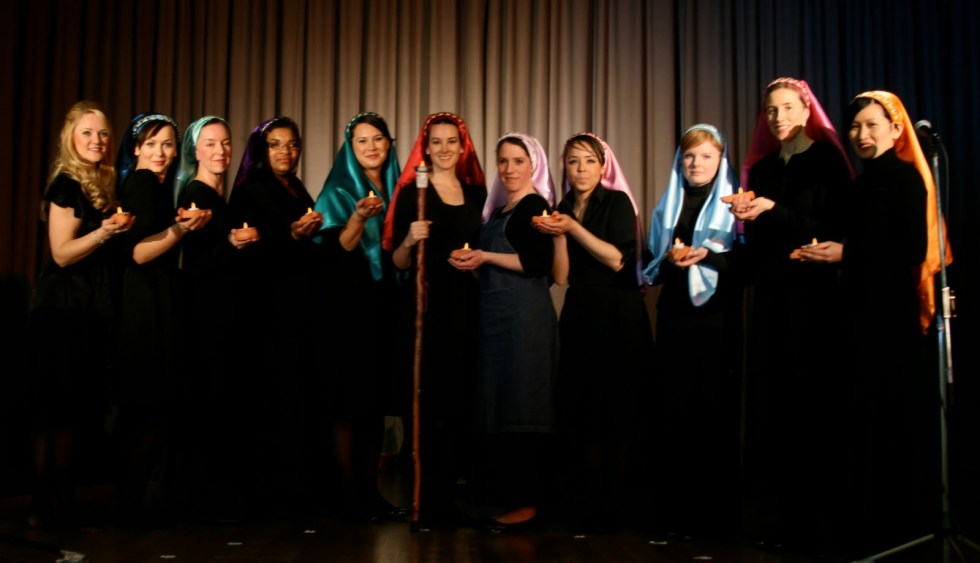 Production of the Biblical story of the 10 virgins by the the Hyde Park Stake Society