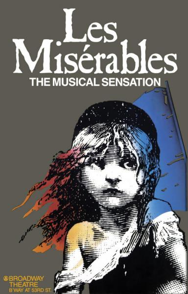 Les Miserables original Broadway poster