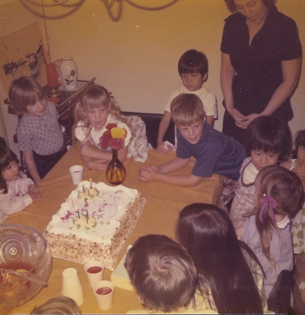 Kari (the blond girl) at my 6th birthday party