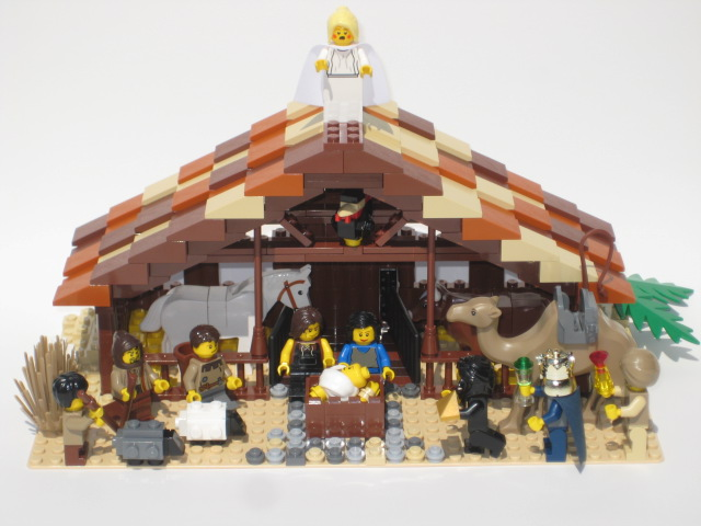 Nativity scene as interpreted in LEGO bricks