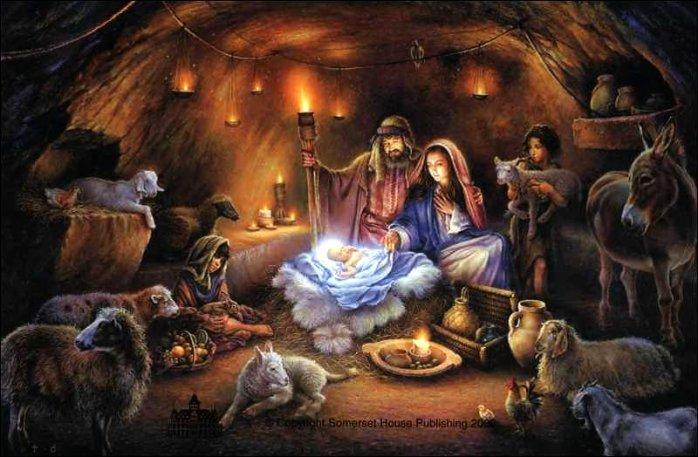 Nativity scene as it likely was so long ago