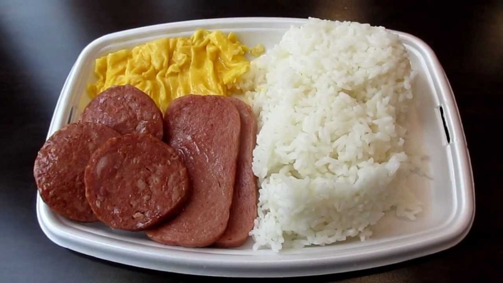 The Portuguese sausage and rice platter from McDonald's in Hawaii