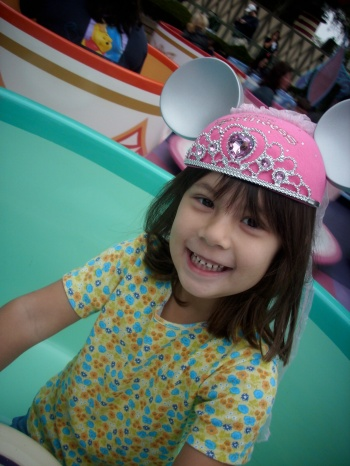 Riding the teacups on Daddy/Daugher Day back when I could