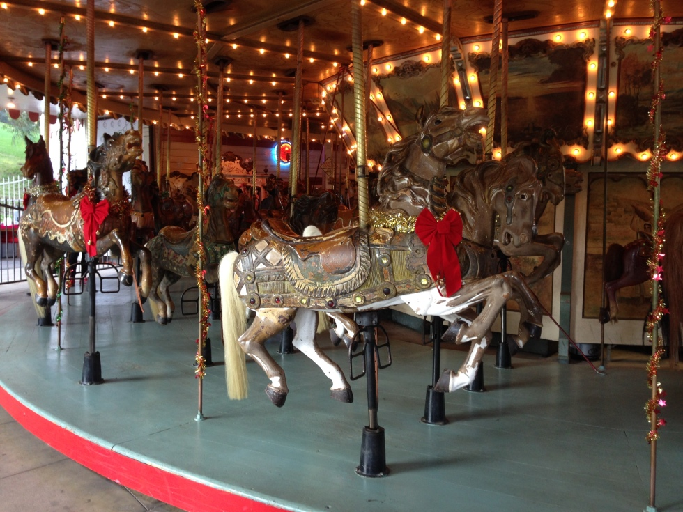 The merry-go-round at Griffith Park that Walt Disney took his daughters to ride