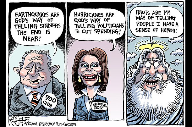 The irony of people who associate horrific disasters with God
