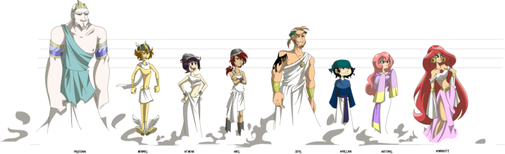 The Greek Gods - an illustrative interpretation