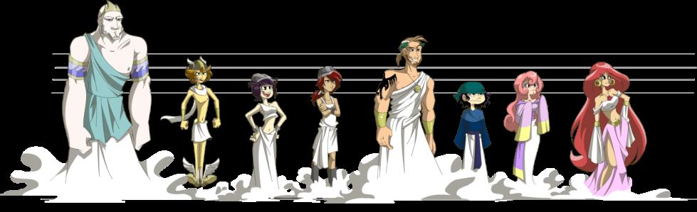 The Greek Gods - an illustrative interpretation