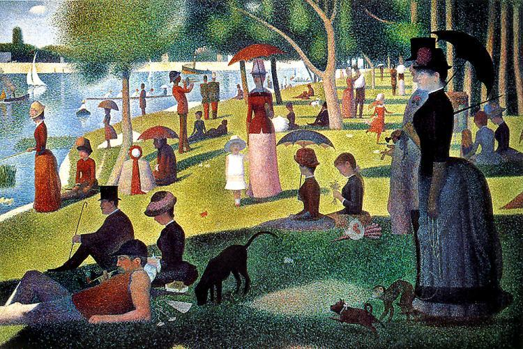 Sunday in the Park with George- painting by George Seurat