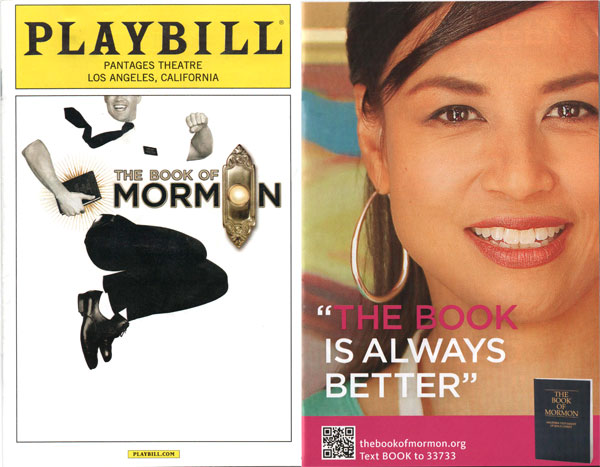 The Church of Jesus Christ of Latter-day Saints earned a lot of praise and impressively turned the other cheek by using smart marketing. They placed full page ads in the Playbill for The Book of Mormon (the musical) encouraging people to find out for themselves about their faith.