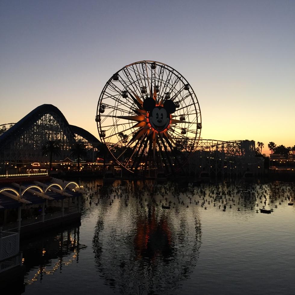 Sunset at Disney California Adventure - post redo