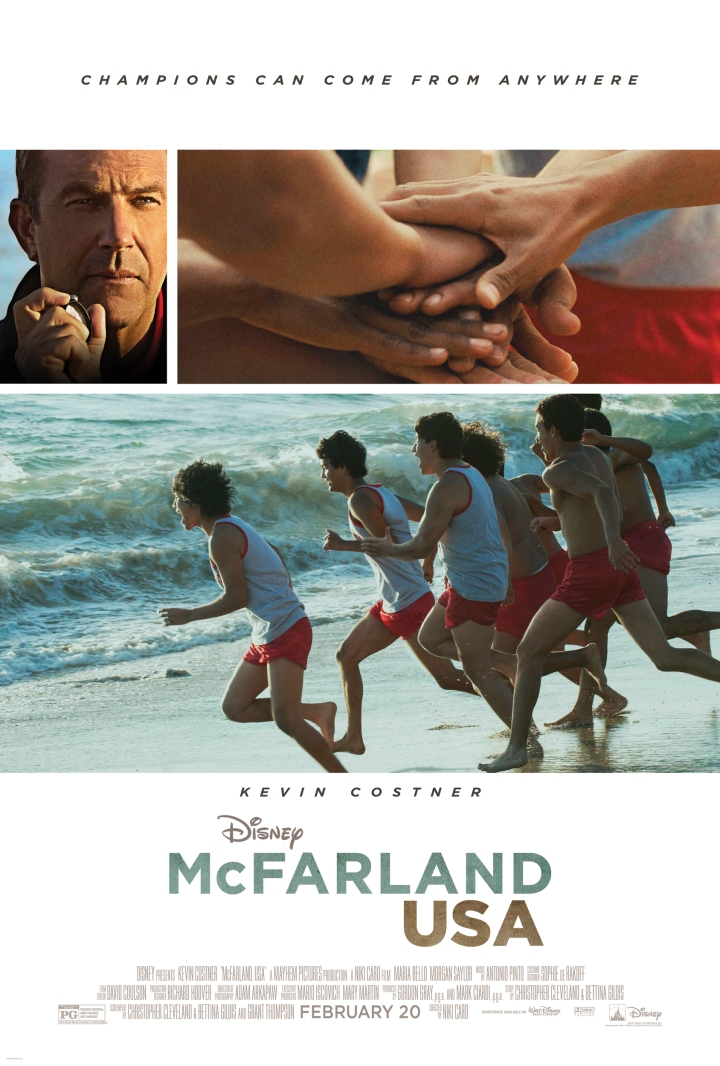 The movie poster for McFarland USA - a great film about family, trust, and faith in one another
