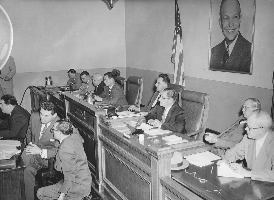 HUAC or the House Un-American Activities Committee under Senator McCarthy - photo from the University of Washington Civil Rights Library