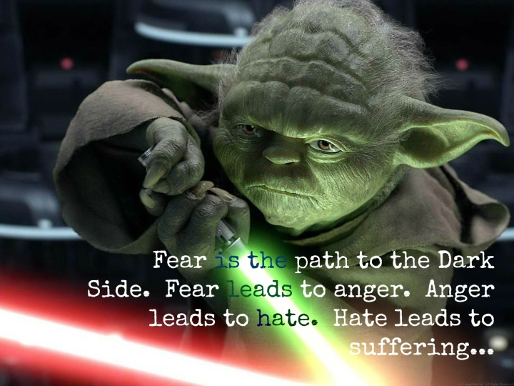 Wise quote from Yoda, Jedi Master