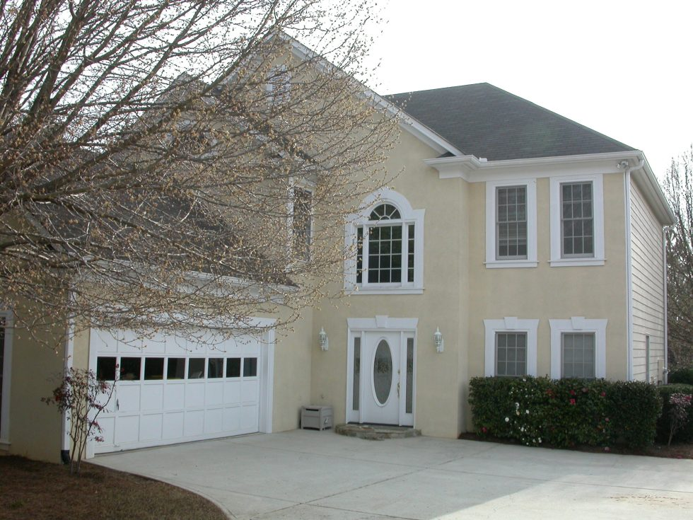 Our house in Atlanta (actually Alpharetta) when we first got married