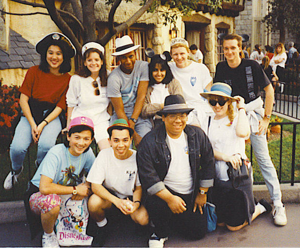 Our HHRA Cabinet enjoying a retreat at Disneyland. L to R - Back: Rebecca, Amy, Stephen, Neera, Rob, Mark; Front: Phong, Tony, Me, Grainne