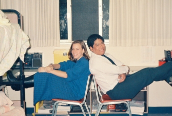 My next door neighbor and good friend Lisa when I was in the dorms at UCLA