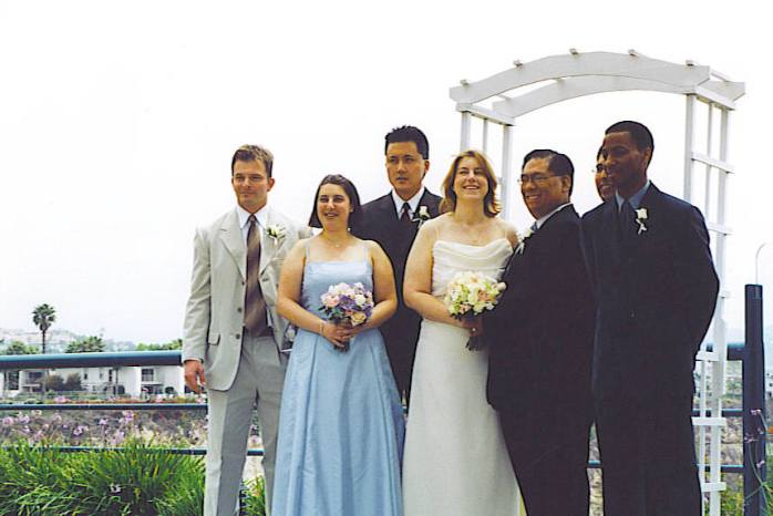 Our wedding overlooking the ocean in Dana Point at The Charthouse