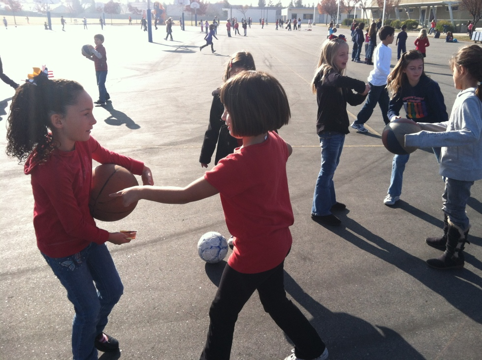 Getting to be recess monitor at Emma's school back in 2nd grade - kids need free play to build relationships and empathy