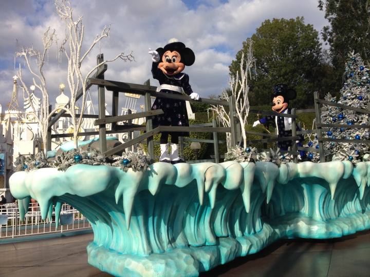Part of the Christmas parade at Disneyland
