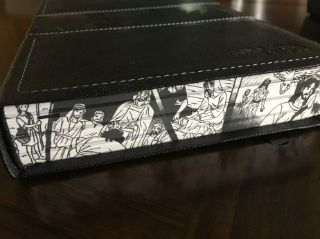 Artwork along the spine of the Manga Bible