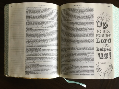 An example of interior pages from the Inspire Bible