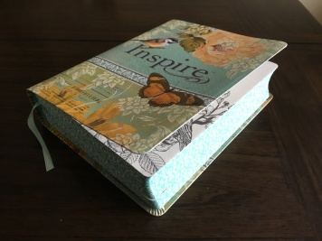 The cover and spine of the Inspire Bible is beautiful