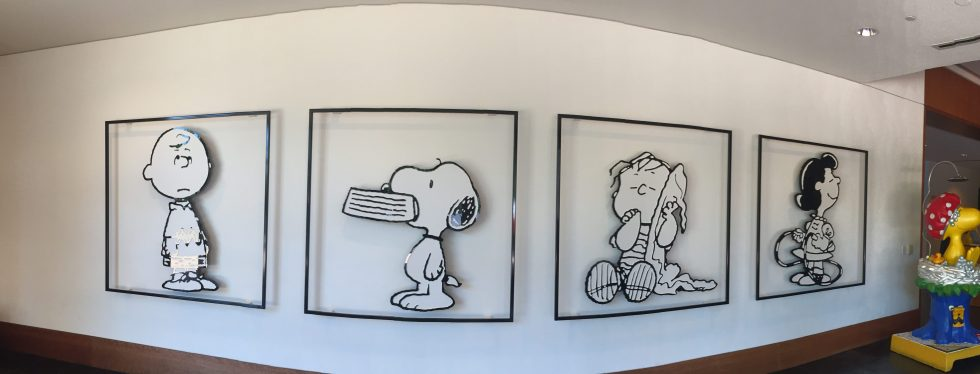 Linus and his famous blanket from the Charles Schulz Museum in Santa Rosa
