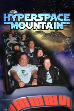 Riding Hyperspace Mountain together!