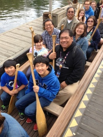 Riding the Davy Crockett Canoes together on our trip back in 2014