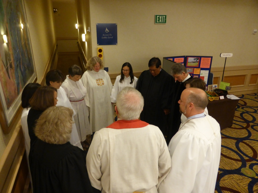One of the most meaningful times of prayer I've shared in - with my fellow ordinands before being ordained!