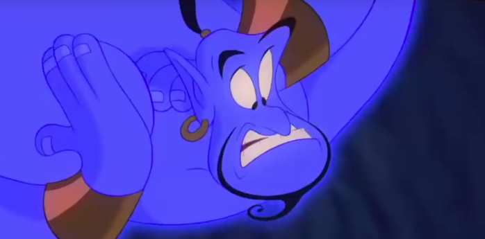 The most famous Genie of them all - Robin Williams' version from Aladdin
