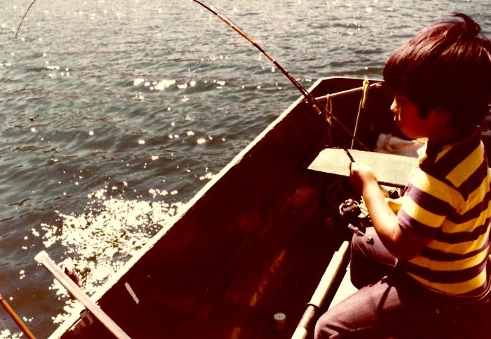 Lake fishing on June Lake with my dad