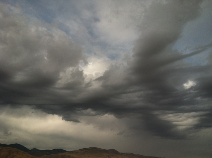 Storm clouds rolling in - beautiful to look at but can be destructive too