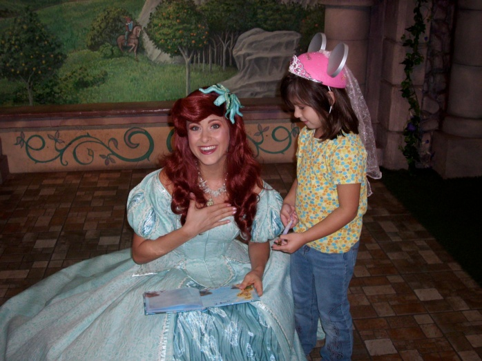 Happened to catch the moment when Ariel told me she had Daddy/Daughter Days, too.