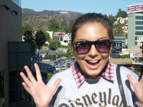 Excitement about the Hollywood sign!