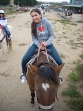 Our first outing with Kristina was to Pismo Beach where we did horseback riding together