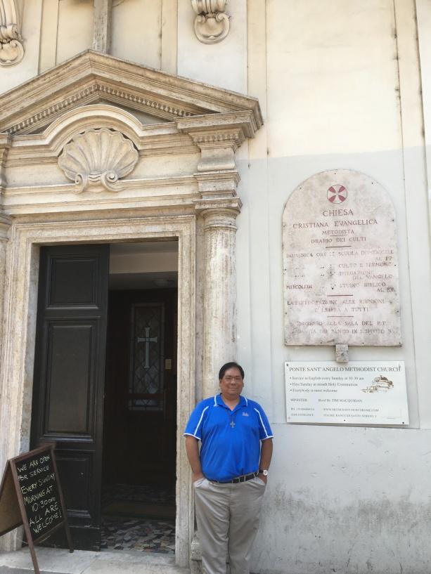 Ponte Sant'Angelo Methodist Church in Rome, Italy