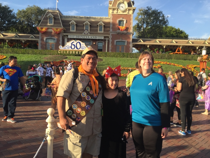 2015-10-23 - Our family at Disneyland for Mickey's Halloween Party