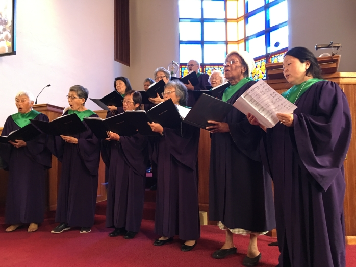 Choir on our first Sunday together